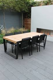Interesting Modern Metal Patio Furniture Maybe Color Scheme For Table Get Really Dark Intended Perfect Design