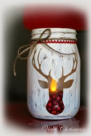 Christmas Decorated Mason Jars Stenciled jars using Hazel and Ruby Stencil Masks This art that 1