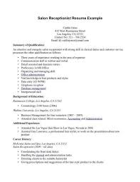 salon assistant resume examples awesome salon receptionist resume examples pictures resume