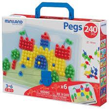 <b>Miniland Мозаика Pegs</b> 10 мм, 240 элементов (31804) — купить ...