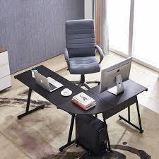 Image Wood Shop Mcombo Home Office Desk Corner Shaped Workstation Laptop Table Free Shipping Today Overstockcom 22976669 Overstock Shop Mcombo Home Office Desk Corner Shaped Workstation Laptop