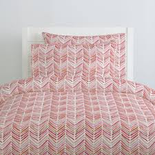 pink painted chevron duvet cover share save 1