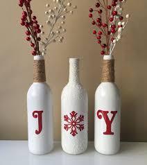 Decorative Wine Bottles Ideas Easy Christmas Wine Decorations Surprising Best 100 Bottles Ideas 66