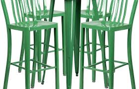 full size of metal indoor outdoor bar table set round green with vertical wall kitchen surprising