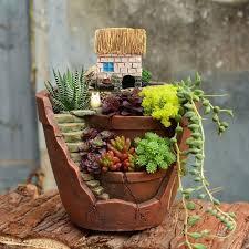 2019 vintage design flower pot resin succulent plants pot micro landscape flowerpot home garden decoration bonsai from hopestar168 35 87 dhgate com