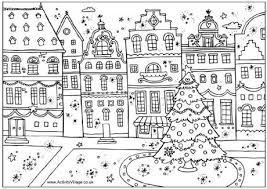 Small Picture Christmas street colouring page I heart Coloring Pages