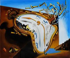 exploding clock dali