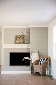 Light Grey Painted Brick Fireplace Brick Fireplace Makeover You Wont Believe The After The