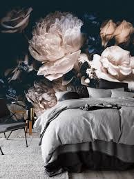 Zelfklevend Behang Bloemen Zwart Vintage 230x242 In 2019 All