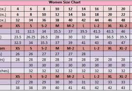 Dress Size Chart Measurements Women Measurement Size Chart Dress Size 10 Measurements R