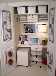 hidden home office with chic design for saving space idea chic attractive home office