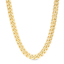 made in italy men s 6 8mm cuban link chain necklace in 14k gold