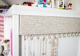 diy jewelry organizer necklace holder from wood