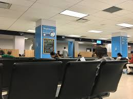 a man fills out paperwork on monday morning at the midtown manhattan dmv photo hayley fitzpatrick