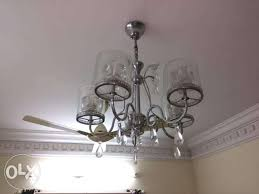 show only image used silver chandelier ceiling light