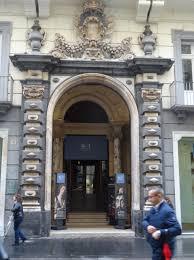 the entrance to the palazzo zevallos stigliano on the via toledo in naples italy