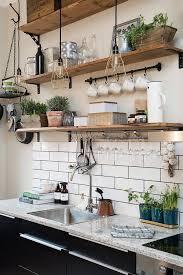 open wall shelves