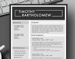 Word Masculine Resume Template Modern Masculine Bold Resume Template Instant Download For Use With