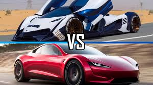 2)devel sixteen is a concept car, when it will reach 30 units it will be the fastest production car. Superturbo Devel Sixteen Vs Tesla Roadster 2020 Facebook