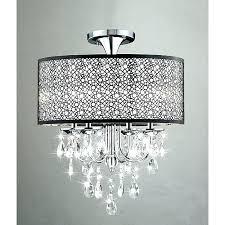 chandelier ceiling light chandelier flush mount crystal ceiling light pendant lamp lighting bedroom shell semi mini