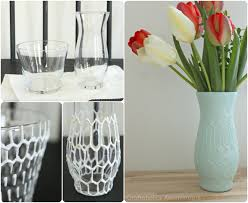 hexagon vase tutorial all you need is puffy paint and spray paint for