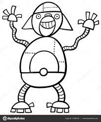 Kleurplaat Aap Robot Stockvector Izakowski 139083708
