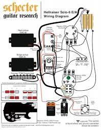 hellraiser solo 6 wiring diagram schecter guitars