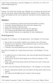 professional tour guide templates to showcase your talent  resume templates tour guide