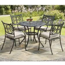 garden set. Guildford 4 Seat Cast Aluminium Garden Dining Set With Cushions