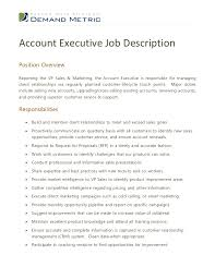 Account Management Job Description Resume Template Sample