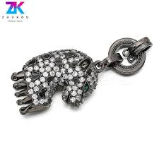 22 62mm sparkling leopard jewelry making pendants for diy jewelry findings brass micro pave