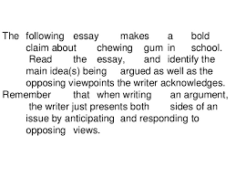 opposing viewpoints essay