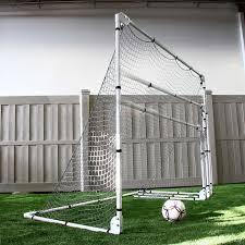 Amazoncom  Franklin Sports MLS Tournament Goal 6u0027 X 12u0027 Silver Soccer Goals Backyard