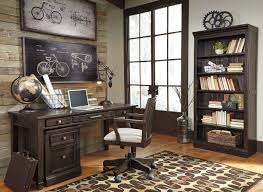 office desk with filing cabinet. Townser Grayish Brown Home Office Desk, File Cabinet, Bookcase \u0026 Swivel Desk Chair With Filing Cabinet