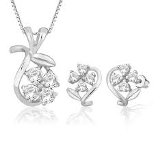 peora sterling silver pendant earrings set ps1304 pendant sets home18