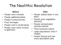 neolithic revolution co neolithic revolution