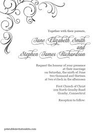 Black And White Invitation Paper Free Elegant Wedding Invitation Templates In 2019 Blank