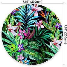 Colorful Tropical Leaf Mousepad Mat Beautiful Design
