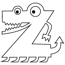 Small Picture Letter Z Coloring Page