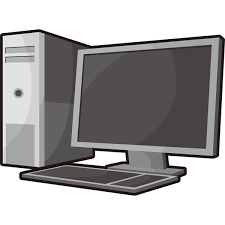 家庭生活 パソコンデスクトップパソコンカラー 無料イラスト