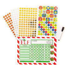Magnetic Vip Elf Reward Chart Set Reusable Includes Marker Stickers Stars