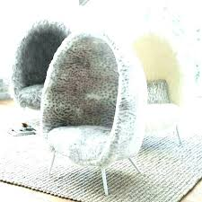 fluffy chair target fuzzy ivory faux fur cave scroll to previous item white vanity bean bag des