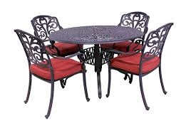 carrera collection 4 dining chairs and catalina 48 round table
