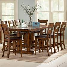 Bar Height Kitchen Table Set Steve Silver Zappa 9 Piece Counter Height Table Chair Set