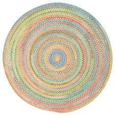 baby s breath braided round rug