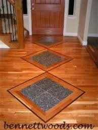 hardwood floor stone inlay bennett woods salt lake s hardwood floor specialsts
