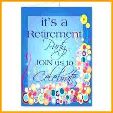 Retirement Invitations Free Sample Retirement Invitations Party Invitation Template Ms