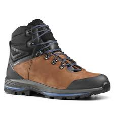 35 hiking trekking trek 100 leather mens waterproof walking boots brown forclaz