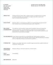 Sample Resume For Civil Engineer Fresh Graduate