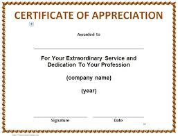 sample of appreciation letter 30 free certificate of appreciation templates and letters